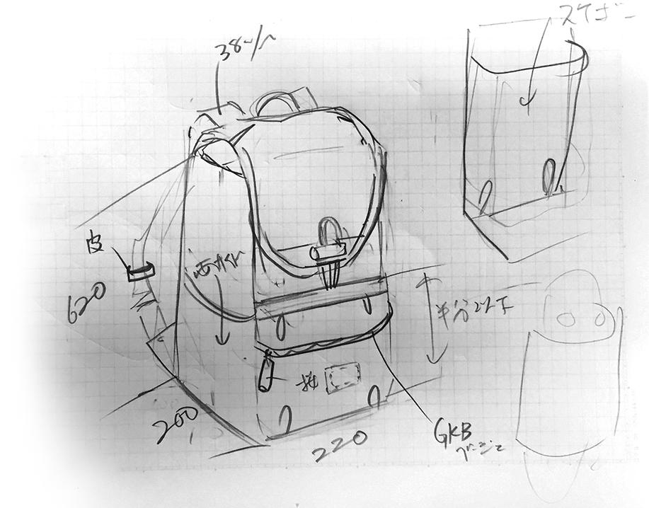 LADE日本製リュックサック
